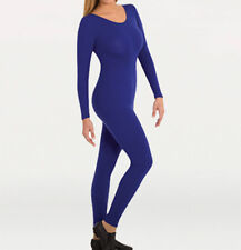 Body Wrappers MT217 Adult Large (12-14) Royal Blue Full Body Long Sleeve Unitard