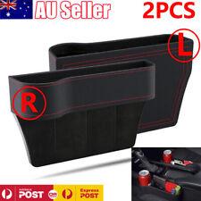 2pcs Car Seat Gap Slit Pocket Storage Organizer Caddy Phone Key Coins Holder Box