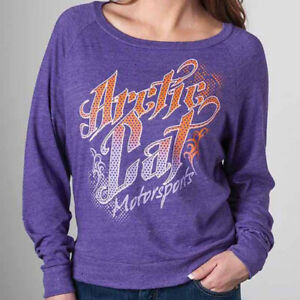 Arctic Cat Junior's Arctic Cat Motorsports Purple Long-Sleeve T-Shirt - 5253-89_