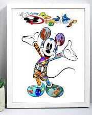 Micky Mickey Mouse DISNEY GIFT Birthday Christmas Present Nursery Unique xmas A4