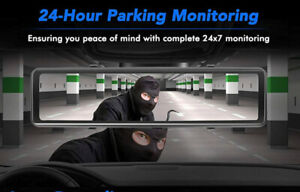 12 Inch Stream Media GPS Wifi 4K Dual Lens Car Dashcam Monitoring Night Vision