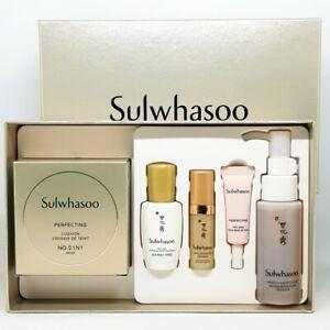 Sulwhasoo Perfecting Cushion Set No21N1 Beige Serum Base Cleansing Foam K-Beauty