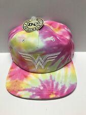 NEW Bioworld DC Comics Wonder Woman Pink Tie Dye Snapback Baseball Cap Hat
