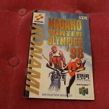 Notice du jeu Nintendo N64 FR nagano olympics 98