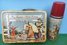 1953 ROY ROGERS Metal Lunchbox with THERMOS - Double R Bar Ranch