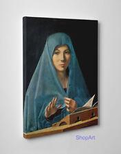 Antonello da Messina Annunciata di Palermo Stampa su Tela Vernice Pennellate