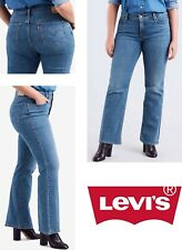 d9b2a69778c New LEVI'S STRAUSS Woman 415 Classic Bootcut Jeans Woman Plus Sz 24W 43X32  Denim