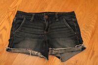American Eagle Denim Stretch Distressed Shorts Size 4 Blue Jean Shorty