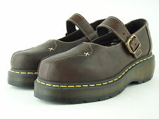 Dr. Martens Air Wair Brown Chunky Platform Mary Jane Shoes - Women's Size 8 EUC!
