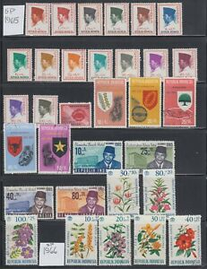 Indonesia 1948-1967 A mint and used and mostly sound back-of-book  collection