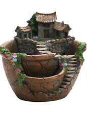 Vintage Fairy garden pot