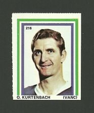 Orland Kurtenbach #216 Vancouver Canucks 1971-72 Eddie Sargent Hockey Stamp