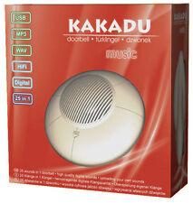 BE CREATIVE! USB DOORBELL KAKADU MUSIC 25 MP3 TUNES ROCK'N'ROLL DOOR BELL CHIME