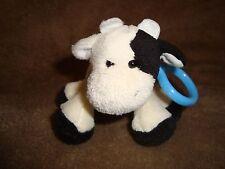 "Ganz Webkinz Kinz Klip cow Plush Backpack Clip 3"" tall no code"