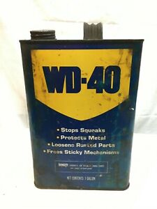 Vintage WD 40 One Gallon Oil Can Garage Empty