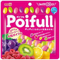 """Meiji, Gummy """"Poifull"""", 4 Flavors, 80g as 1 pack, Japan"""