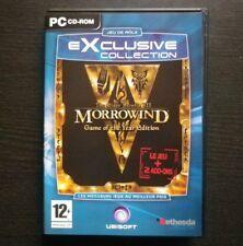JEU PC CD-ROM : The Elder Scrolls III MORROWIND (inclus Bloodmoon + Tribunal)
