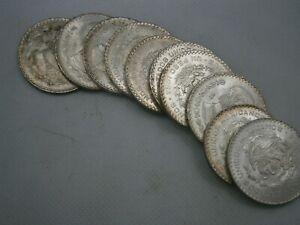 1 1963 & 2 1964 Mexico Un Pesos KM#459 -  3 Silver Coins UNC/BU  EB301