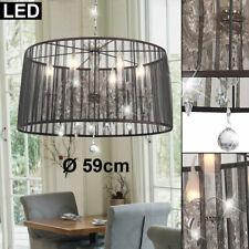 LED Hänge Decken Lampe Kronleuchter Luster FILAMENT Glas Kristall Flur Leuchte
