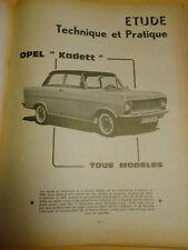 RTA revue technique n° 228 avril 1965 OPEL kadett tous modèles