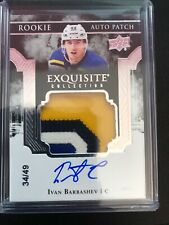 2017-18 Exquisite Ivan Barbashev St. Louis Blues Rookie Auto 4 Color Patch /49