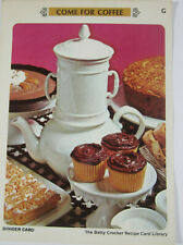 "Betty Crocker Library 1971 Recipe Cards ""G"" Come for Coffee 27 Cards"