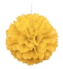 40cm Yellow Tissue Paper Puff Ball Wedding Party Supplies Birthday Decoration