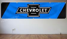 Chevrolet Banner Flag 2x8Ft Chevy Car Truck Racing Flag Wall Decor Garage