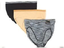 HEAD Ladies Hi-Cut Briefs Seamless 3-Pack Panties Nylon/Spandex S-XXL...