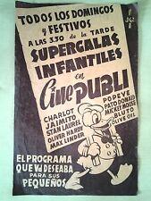 Supergalas Infantiles,Charlot,Popeye,Disney etc...con publicidad