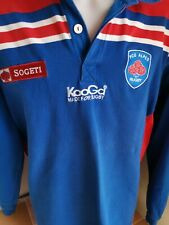 superbe maillot  fcg grenoble alpes  taille xl rugby kooga vintage
