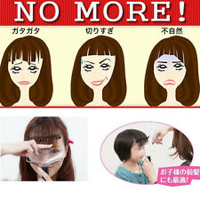 Front Bangs Trimmer Supporter Hair Fringe Cut Tool EZ DIY Styling Kit Salon Comb