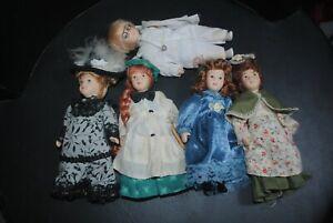 """De Agostini Porzellanpuppen, 5 Stück,Puppen mit Kleidung ohne Magazine """"5"""""""