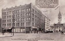Postcard The Oxford Hotel + New Annex Denver Co