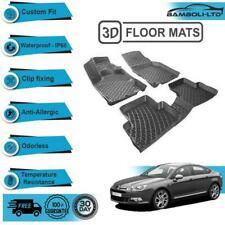 3D Molded Interior Car Floor Mat for Citroen C5 2008-Onwards(Black)