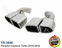Exhaust tips tailpipe trims for Porsche Cayenne Turbo 2015-2016