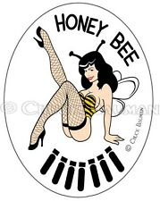 Sexy Bomber Nose Art Pin-up Girl sticker decal HONEY BEE sexy Bettie Page