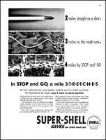 1938 Shell oil gas bullet farmland highway gasoline vintage art print ad adl89