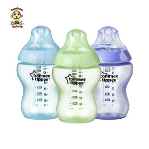Tommee Tippee Closer to Nature Bottles, 9 oz (260 ml), 3 PACK, Brand New