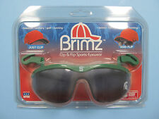 Spartans Flip Up Sunglasses Brimz Clip On Sports Eyewear Michigan State Logo NEW