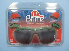 Spartans Flip Up Sunglasses Brimz Clip On Sports Eyewear Michigan State Logo NEW