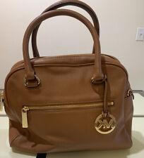 MICHAEL KORS Brown Saffiano Leather Doctor Satchel Tote Purse Handbag