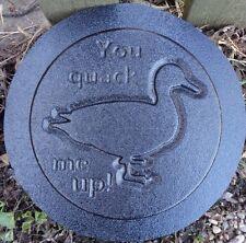 "plastic Duck plaque mold ""You quack me up!"" garden plaque / stepping stone"