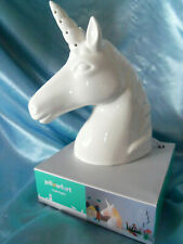 "White Porcelain Unicorn Night Light 8"""