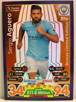 Match Attax 2017/18 Premier League - #LE2B Sergio Aguero - Bronze Limited Editio