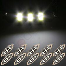 10X White 41mm 3-Smd-5730 Car Working Bulbs Interior Festoon Led Lights Lamps (Fits: 2010 Charger)