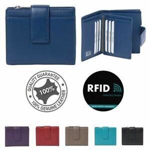 Genuine Leather Premium Quality Multi Colours Wallet/Purse RFID Protected Cards