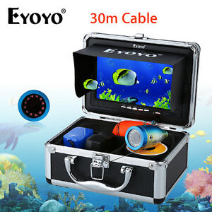"EYOYO 30M 1000TVL Fish Finder Underwater Fishing 7"" Video Camera Infrared IR LED"