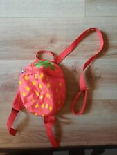 toddler reins backpack red strawberry
