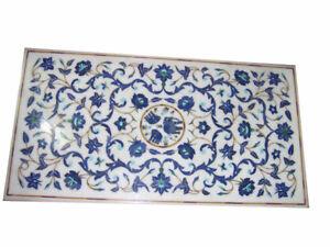 "48"" x 30"" Decorative Handicraft Marble Pietra Dura Inlay Table Top"